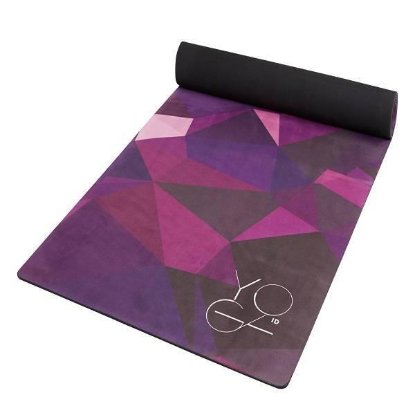 Коврик для йоги Asia ID из микрофибры и каучука (2.5 кг, 175 см, 3 мм, фиолетовый, 61см) цена
